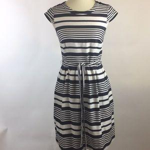 Betsy Johnson A- Line Striped Black & White Dress